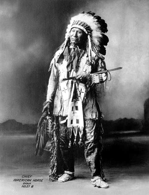 An old photograph of Chief American Horse - Oglala Sioux 1898 [A].