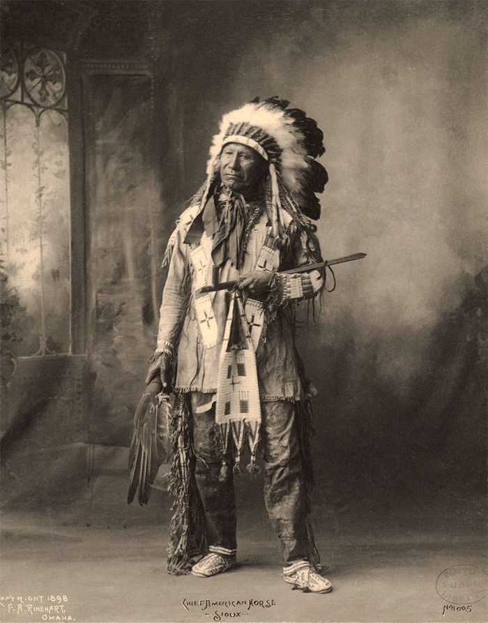 An old photograph of Chief American Horse - Oglala Sioux 1898 [AA].