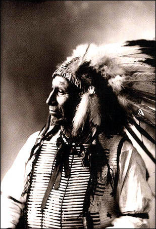 An old photograph of Chief American Horse - Oglala Sioux 1898 [B].