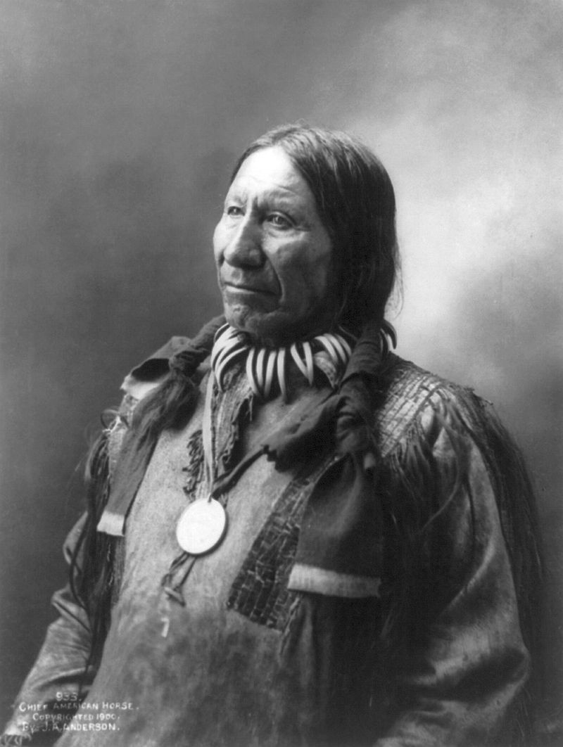 An old photograph of Chief American Horse - Oglala Sioux 1900.