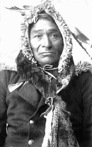 An old photograph of Chief Flatmouth The Second c1898.