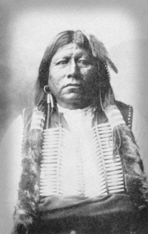 An old photograph of Chief Grant Richards - Tonkawa.