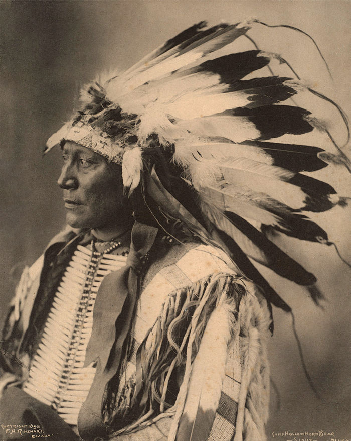 An old photograph of Chief Hollow Horn Bear - Sioux 1898.