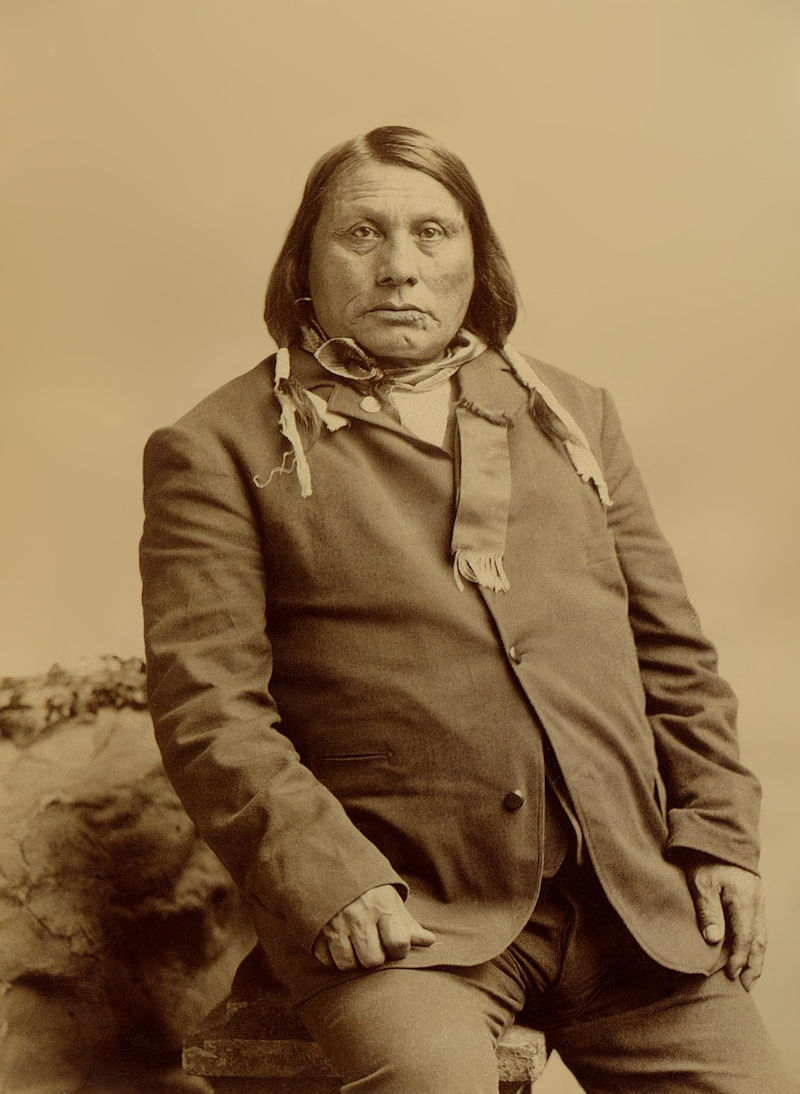 An old photograph of Chief John Gall aka Pizi (Leader in the battle of the Little Bighorn and Judge of Court of Indian Affairs) - Hunkpapa 1891.