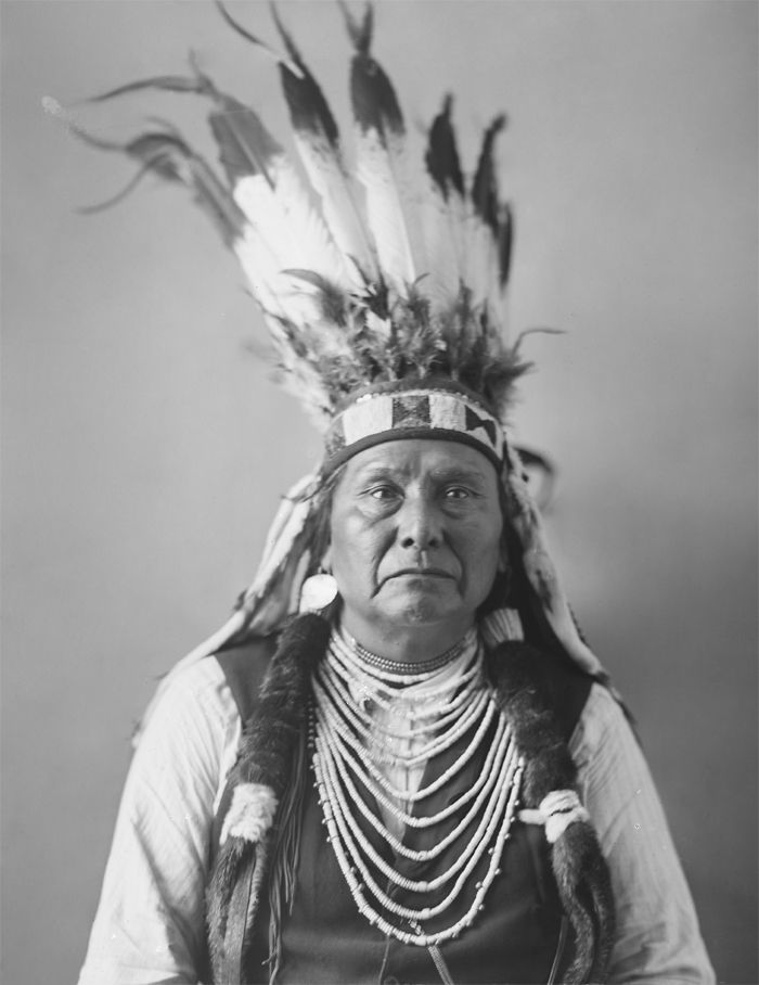 An old photograph of Chief Joseph - Nez Perce.