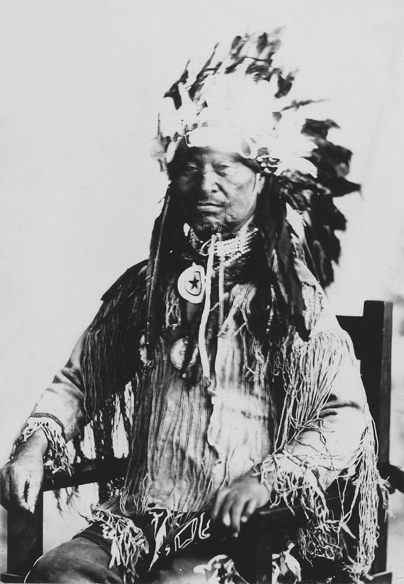 An old photograph of Chief Kack Kack of The Prairie Band of Potawatomi.