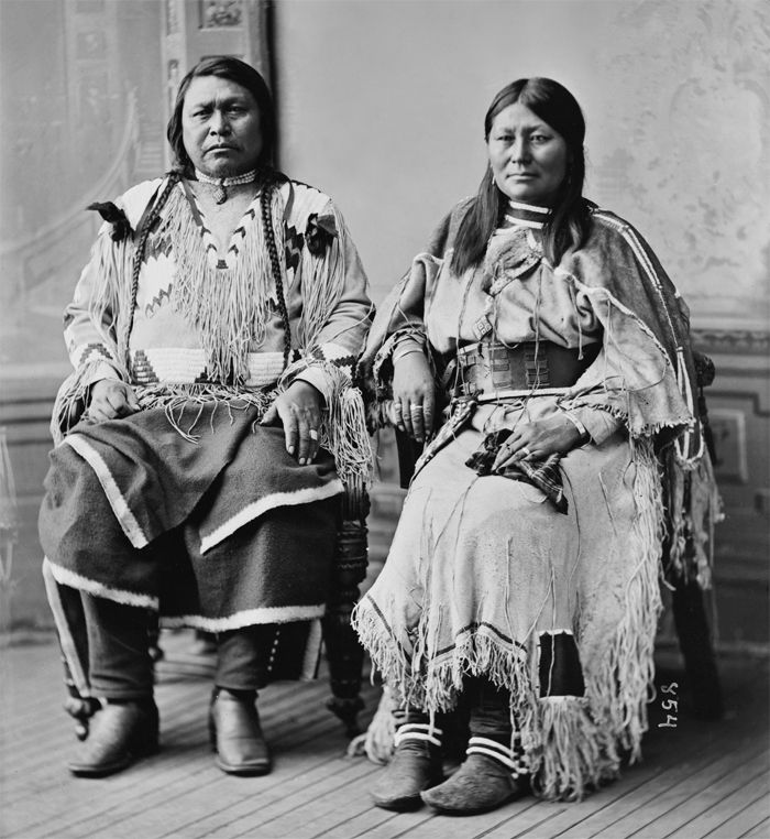 An old photograph of Chief Ouray and Chipeta - Ute [A].