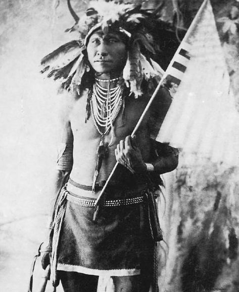 An old photograph of Chief Stinking Bear - Sioux c1890.