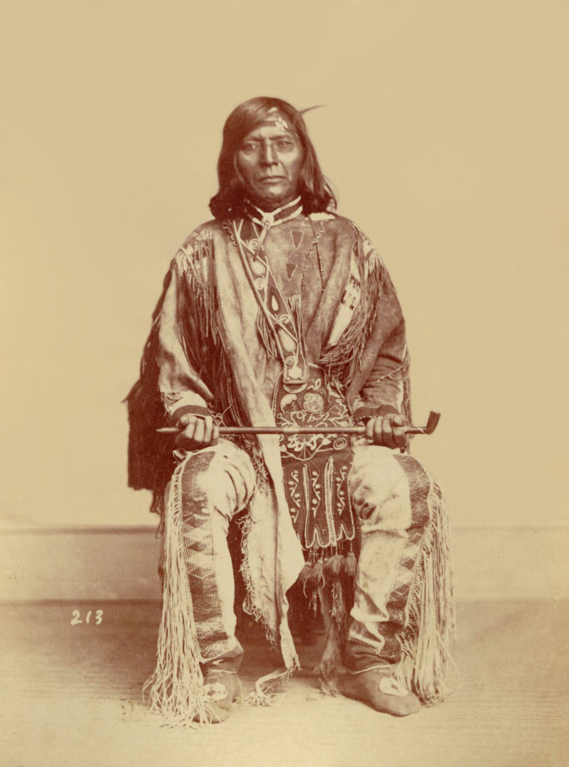 An old photograph of Chief Tamason aka Timothy - Nez Perce 1868.