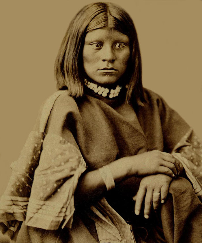 An old photograph of Chief Washington's Daughter - Ute 1879-94.