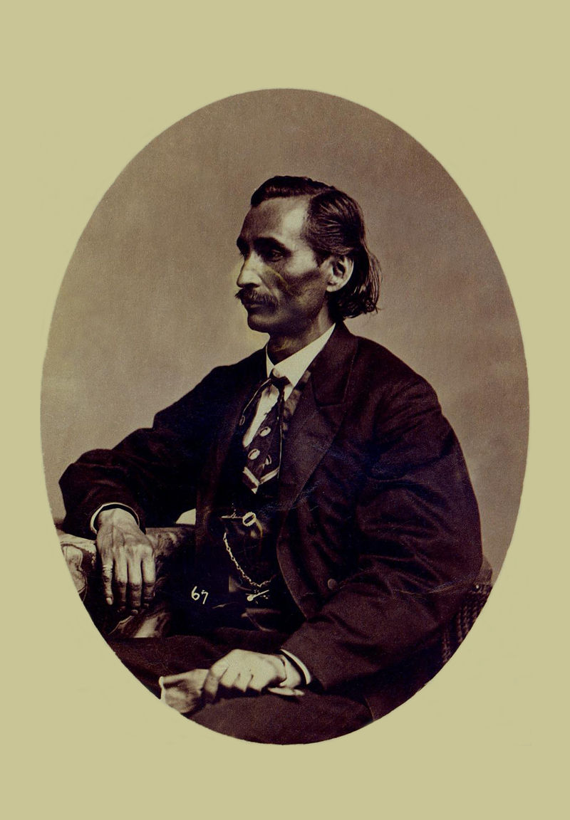 An old photograph of Colonel Lewis Downing - Cherokee 1868 [B].