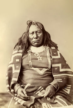 An old photograph of Colorow - Ute Chief 1872 [B].