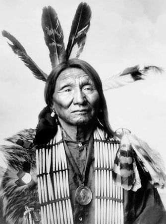 An old photograph of Crazy Bear - Oglala.