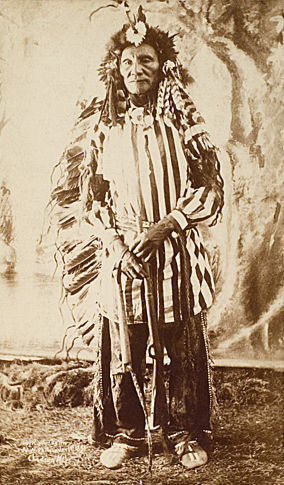 An old photograph of Crazy Bear - Sioux Chief.