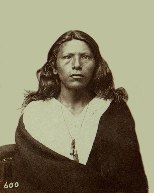 An old photograph of Crow Eyes aka Caw-caw-ke-reek - Pawnee 1868.