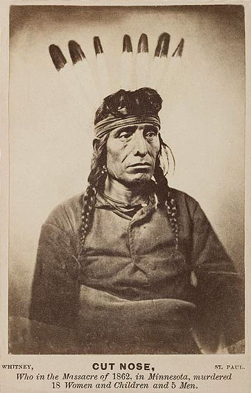 An old photograph of Cut Nose - Mdewakanton 1862.