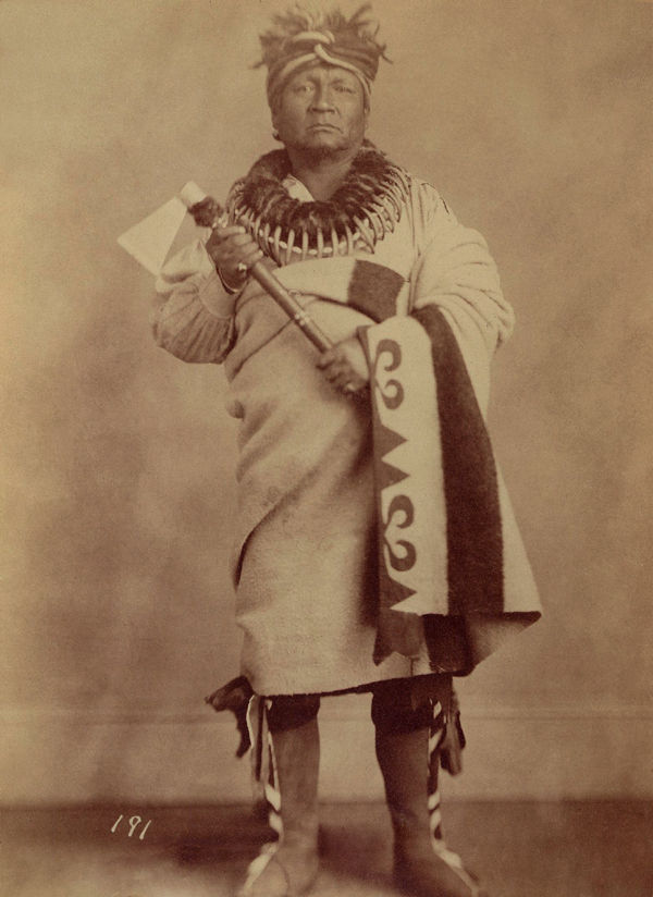 An old photograph of Dead Indian aka Qua-Qua-Ouf-Pe-Ka - Saux and Fox 1868.