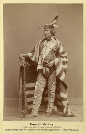 An old photograph of Donald McKay, Warm Springs Chief.