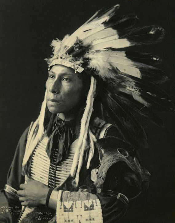 An old photograph of Eagle Elk - Sioux 1898.