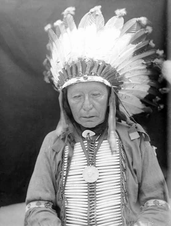 An old photograph of Eagle Horn - Oglala 1907.