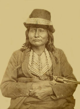 An old photograph of Esa-lou-gelt - Comanche Chief.