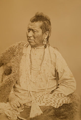 An old photograph of Eye Of The People aka Bright Eye aka In-shta-tha-bi - Omaha 1883.