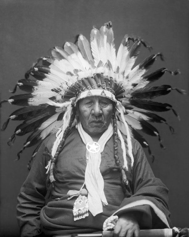 An old photograph of Fire Shaker - Ponca 1914.