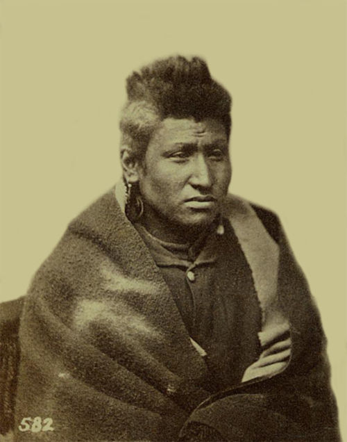 An old photograph of Fox aka Ke-wuk aka Kit-ka-hoct - Pawnee 1868.