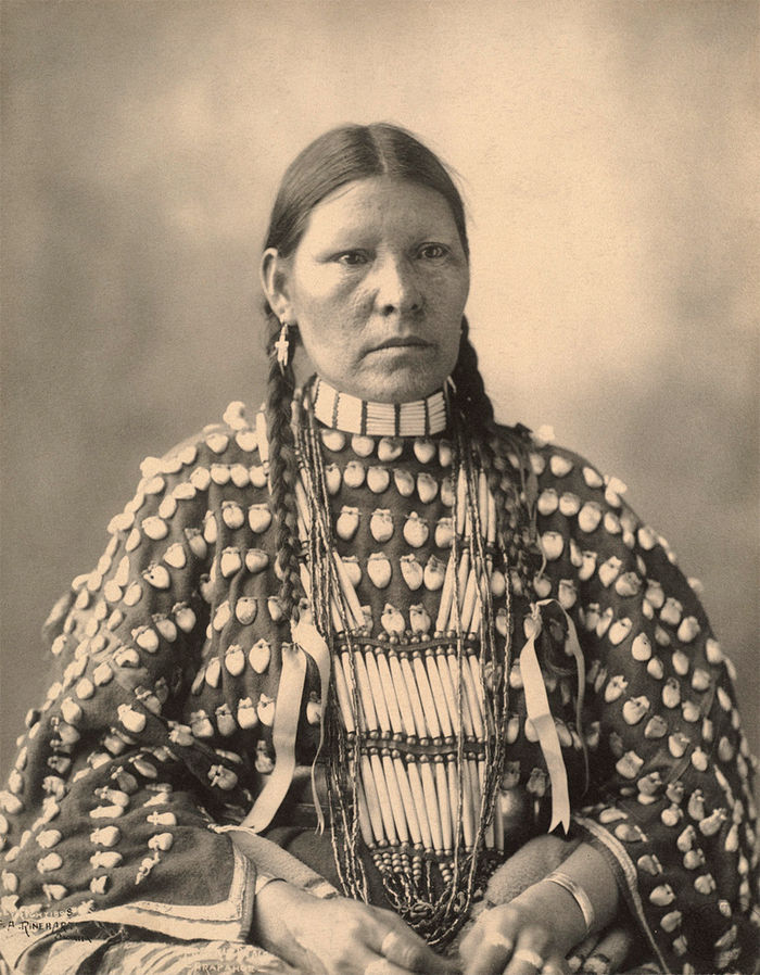An old photograph of Freckled Face - Arapahoe 1898.
