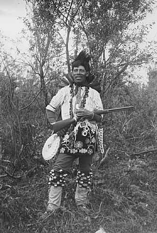 An old photograph of George Big Bear aka Kitchi-mak-wa - Chippewa.