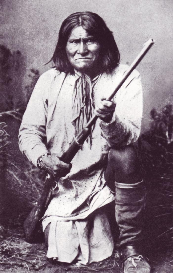 An old photograph of Geronimo - Apache Chief [A].