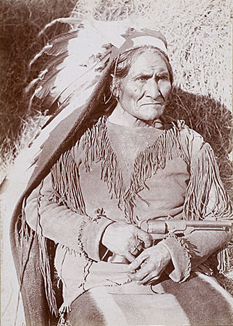 An old photograph of Geronimo - Apache Chief [B].