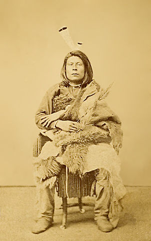An old photograph of Good Bear aka Cu-roox-ta-ri-ha - Pawnee c1868.