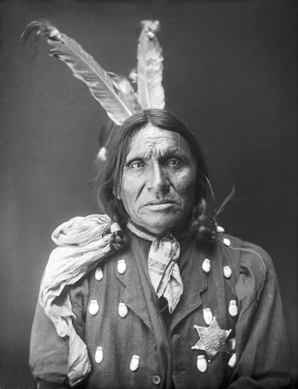 An old photograph of Good Voiced Crow - Oglala 1910.