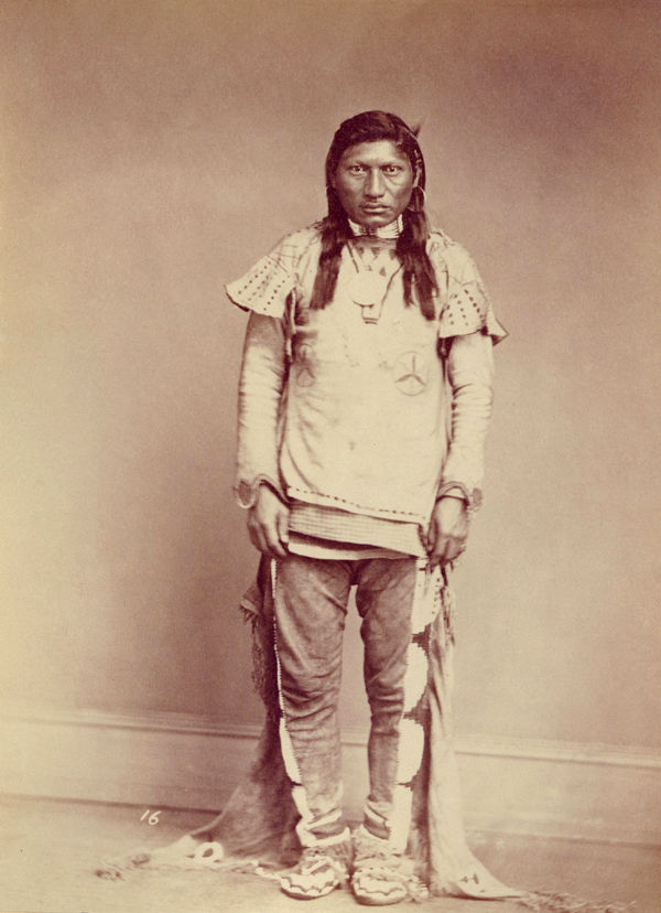 An old photograph of Green Leaf aka Nick-A-A-God - Ute 1869.