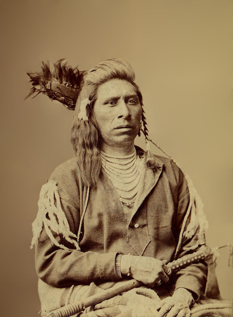 An old photograph of Grouse Pete - Shoshone (possibly 1880) [A].