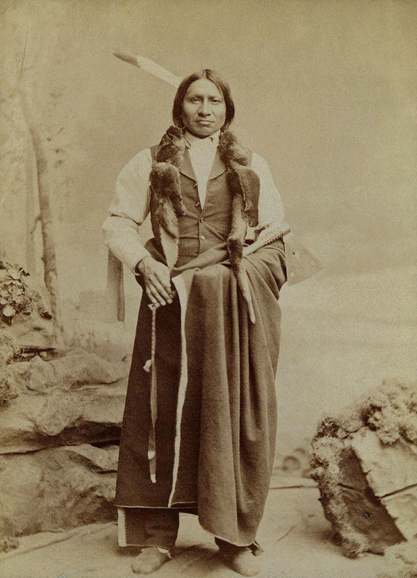 An old photograph of Handsome Elk - Sioux 1891.