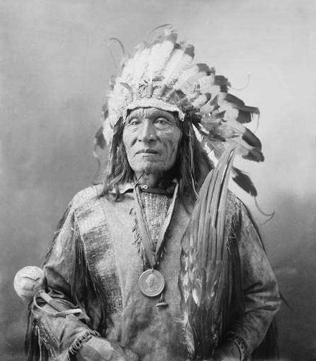 An old photograph of He Dog - Oglala Sioux [B].