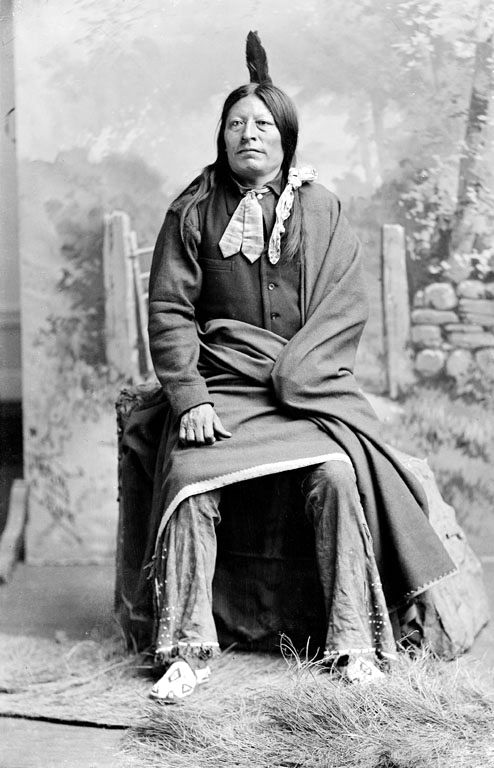 An old photograph of High Hawk - Oglala 1891.