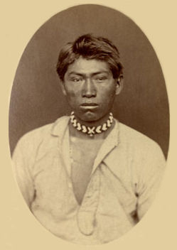 An old photograph of Hooka Jim - Modoc 1873.