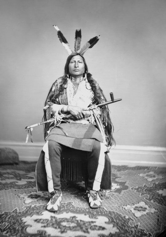 An old photograph of Iron Black Bird aka Zin-tka-sha'-pa-ma'za aka Pte-Yah-Pa-Ma-Sa - Yankton 1867 [AA].