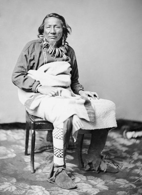 An old photograph of Iron Whip - Ponca 1858.