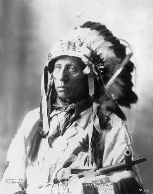 An old photograph of Jack Red Cloud - Oglala 1898.
