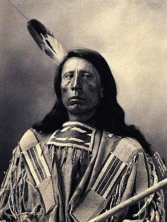 An old photograph of Jack Red Cloud - Oglala 1899.