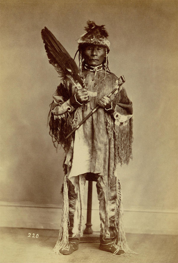 An old photograph of Jason aka Kol-kol-shu-a-tash - Nez Perce 1868.
