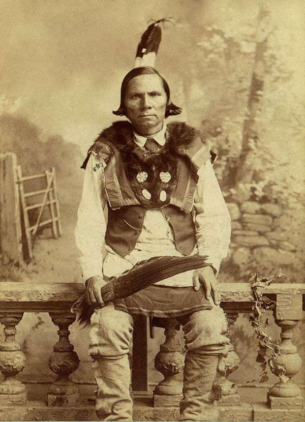 An old photograph of Kee-so-ke-me - Kickapoo [A].