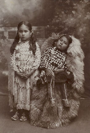 An old photograph of Kiowa Children.