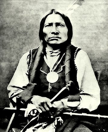 An old photograph of Little Big Man - Oglala Sioux [B].