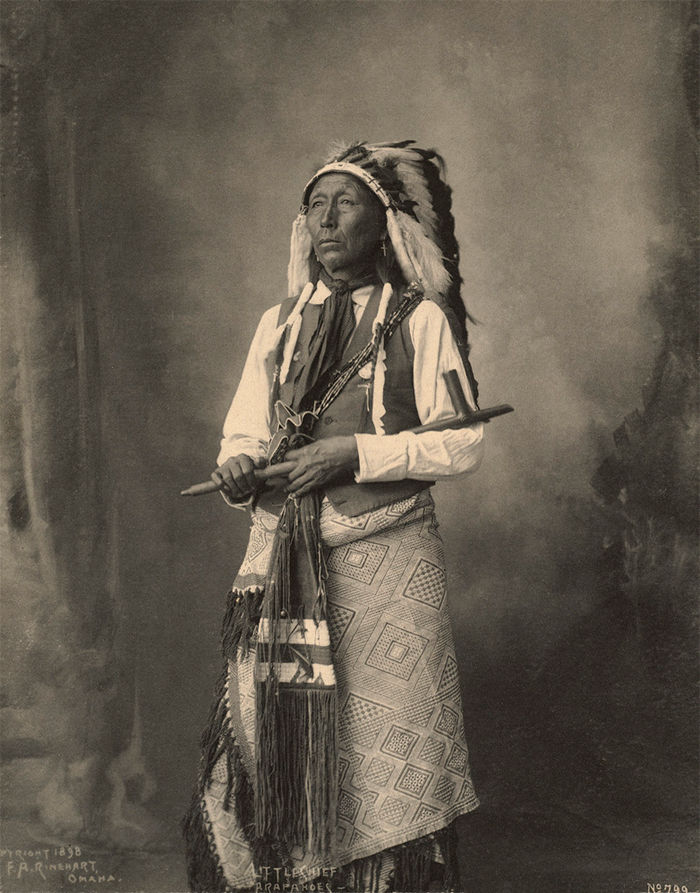 An old photograph of Little Chief - Arapahoe 1898.