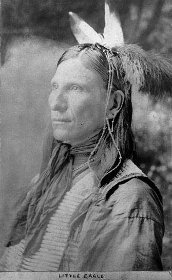 An old photograph of Little Eagle aka Wanabli Cikala - Sioux.